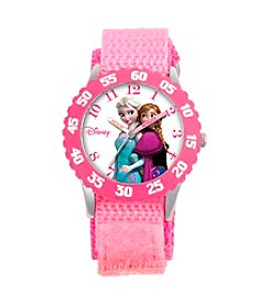 Disney® Anna & Elsa Girls' Stainless Steel Pink Watch