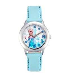 Disney® Snow Queen Elsa Girls' Stainless Steel Light Blue Tween Watch