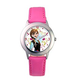 Disney® Girls' Anna Stainless Steel Pink Tween Watch