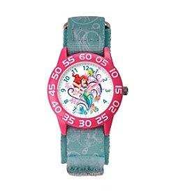 Disney® Ariel Girls' Plastic Blue Watch