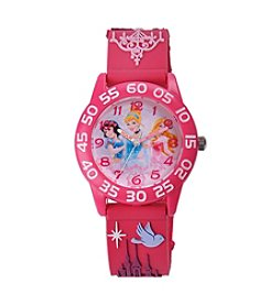 Disney® Princess Girls' 3D Plastic Pink Watch