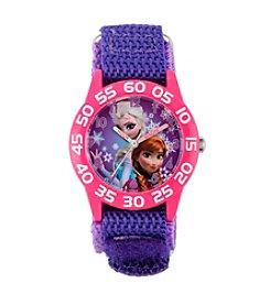 Disney® Anna & Elsa Girls' Plastic Purple Watch