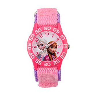 Disney® Girls' Anna & Elsa Plastic Pink Watch