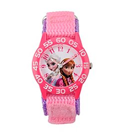 Disney® Anna, Elsa Girls' Plastic Pink Watch