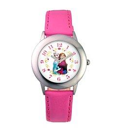 Disney® Anna & Elsa Girls' Stainless Steel Pink Tween Watch