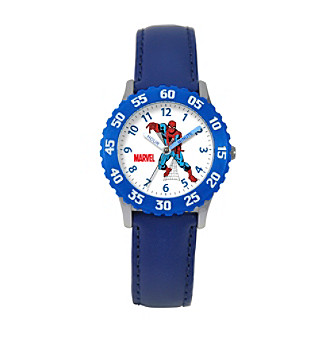 Marvel® Boys' Spider-Man Blue Time Teacher Watch