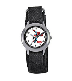 Marvel® Boys' Spider-Man Black Time Teacher Watch
