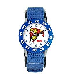Marvel® Boys' Iron Man Blue Time Teacher Watch