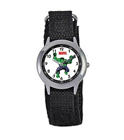 Marvel® Boys' Hulk Black Time Teacher Watch
