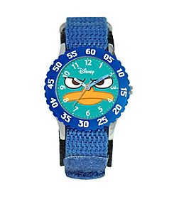 Disney® Boys' Agent P Blue Time Teacher Watch