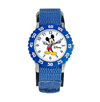 Disney® Boys' Mickey Mouse Blue Time Teacher Watch