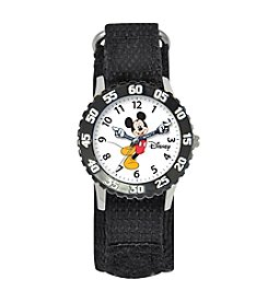 Disney® Boys' Mickey Mouse Black Time Teacher Watch