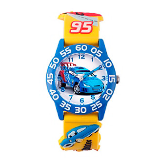Disney® Boys' Cars 3D Plastic Yellow Time Teacher Watch