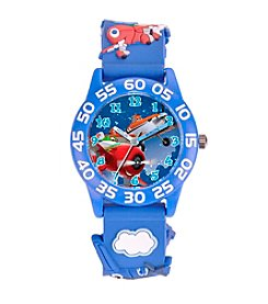 Disney® Boys' Planes 3D Plastic Blue Time Teacher Watch
