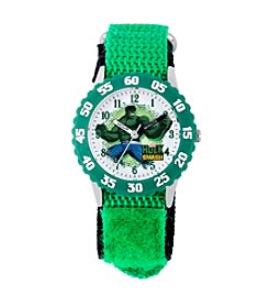 Marvel® Boys' Hulk Green Time Teacher Watch