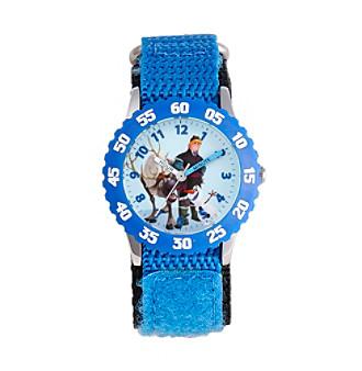Disney® Boys' Kristoff & Sven Blue Time Teacher Watch