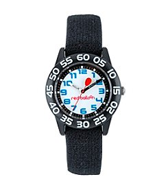 Red Balloon Boys' Plastic Black Time Teacher Watch