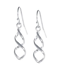 Athra Silver-Plated Twisted Drop Earrings