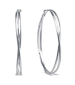 Athra Silver-Plated Bypass Clutchless Hoops