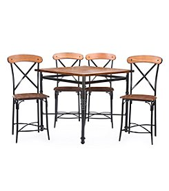 Baxton Studios Broxburn 5-Piece Pub Height Dining Set