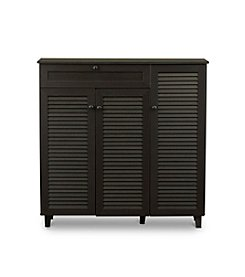 Baxton Studios Pocillo Shoe Storage Cabinet