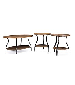 Baxton Studios Newcastle 3-Piece Occasional Table Set