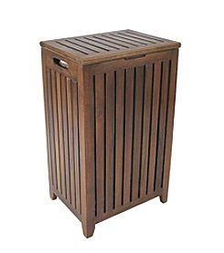 Redmon Genuine Teak Apartment Hamper