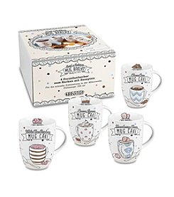 Waechtersbach Konitz Bakery Set of 4 Mugs