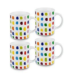 Waechtersbach Konitz Splash of Color Set of 4 Mugs