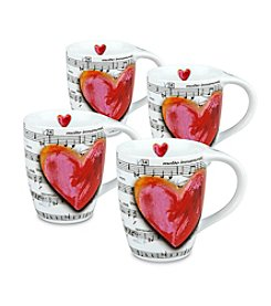 Waechtersbach Konitz Love Song Set of 4 Mugs