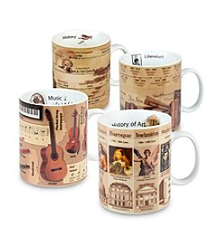 Waechtersbach Konitz Assorted Mugs of Knowledge Set of 4 Mugs