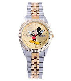 Disney® Mickey Mouse Men's Two-Tone Bracelet Watch
