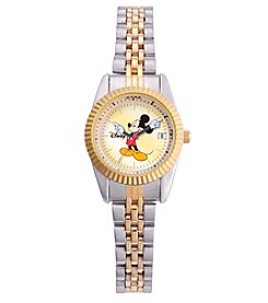 Disney® Mickey Mouse Women's Two-Tone Bracelet Watch