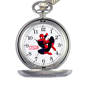 Marvel® Spider-Man Men's Silvertone Pocket Watch