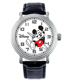 Disney® Mickey Mouse Men's Vintage Black Watch