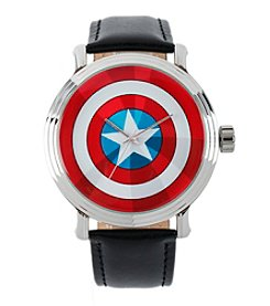 Marvel® Captain America Men's Vintage Black Watch