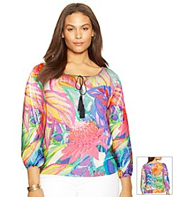 Lauren Ralph Lauren® Plus Size Floral Peasant Top