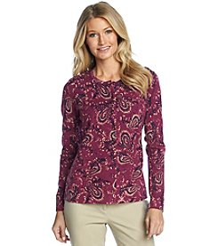 Studio Works® Long Sleeve Flourish Print Cardigan