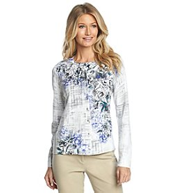 Studio Works® Long Sleeve Etched Floral Print Cardigan
