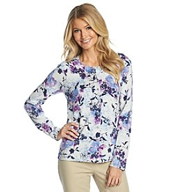 Studio Works® Long Sleeve Mystical Floral Print Cardigan