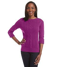 Studio Works® Petites' Bateau Neck Sweater