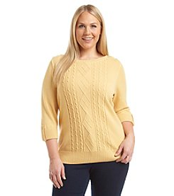 Studio Works® Plus Size Bateau Neck Sweater