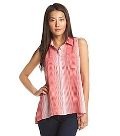 Notations® Abstract Print Sleeveless Blouse