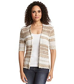 Ruby Rd.® Au Natural Stripe Cardigan Sweater