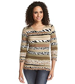 Ruby Rd.® Wild Stripe Knit Top