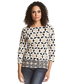Ruby Rd.® Geometric Print Knit Top