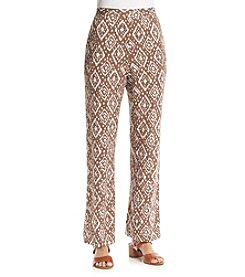 Alfred Dunner® Indian Summer Diamond Print Pants