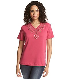 Alfred Dunner® Indian Summer Embellished Knit Top
