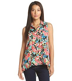 Notations® Floral Print Sleeveless Blouse