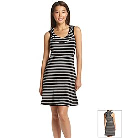 Marc New York Performance Striped Hooded Dress